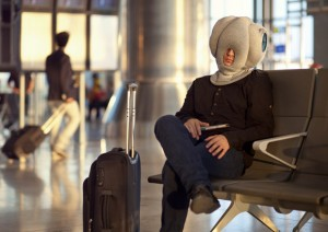 The TSA will have absolutely no problem with you wearing the Magical Ostrich Pillow in the airport.